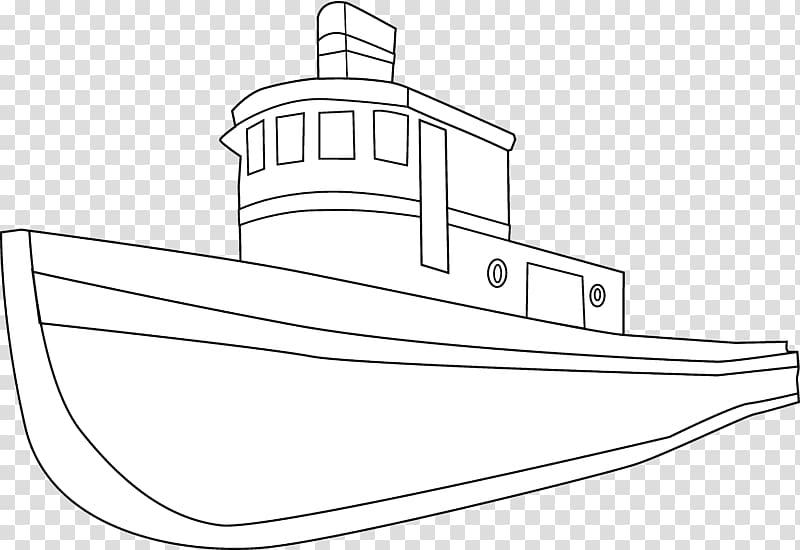 Boat Sailing ship Drawing , Ship Black transparent background PNG.