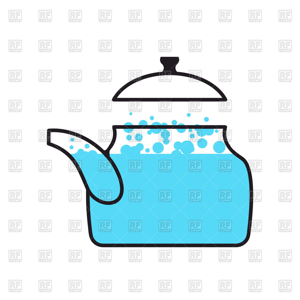 Kettle with boiling water Stock Vector Image.