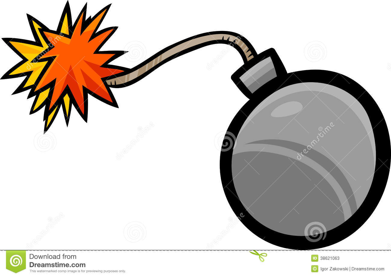 Bomb Clip Art Cartoon Illustration Stock Illustration.