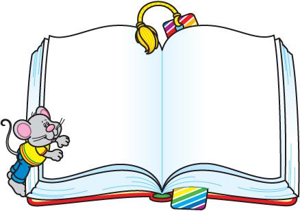 School Book Border Clipart.