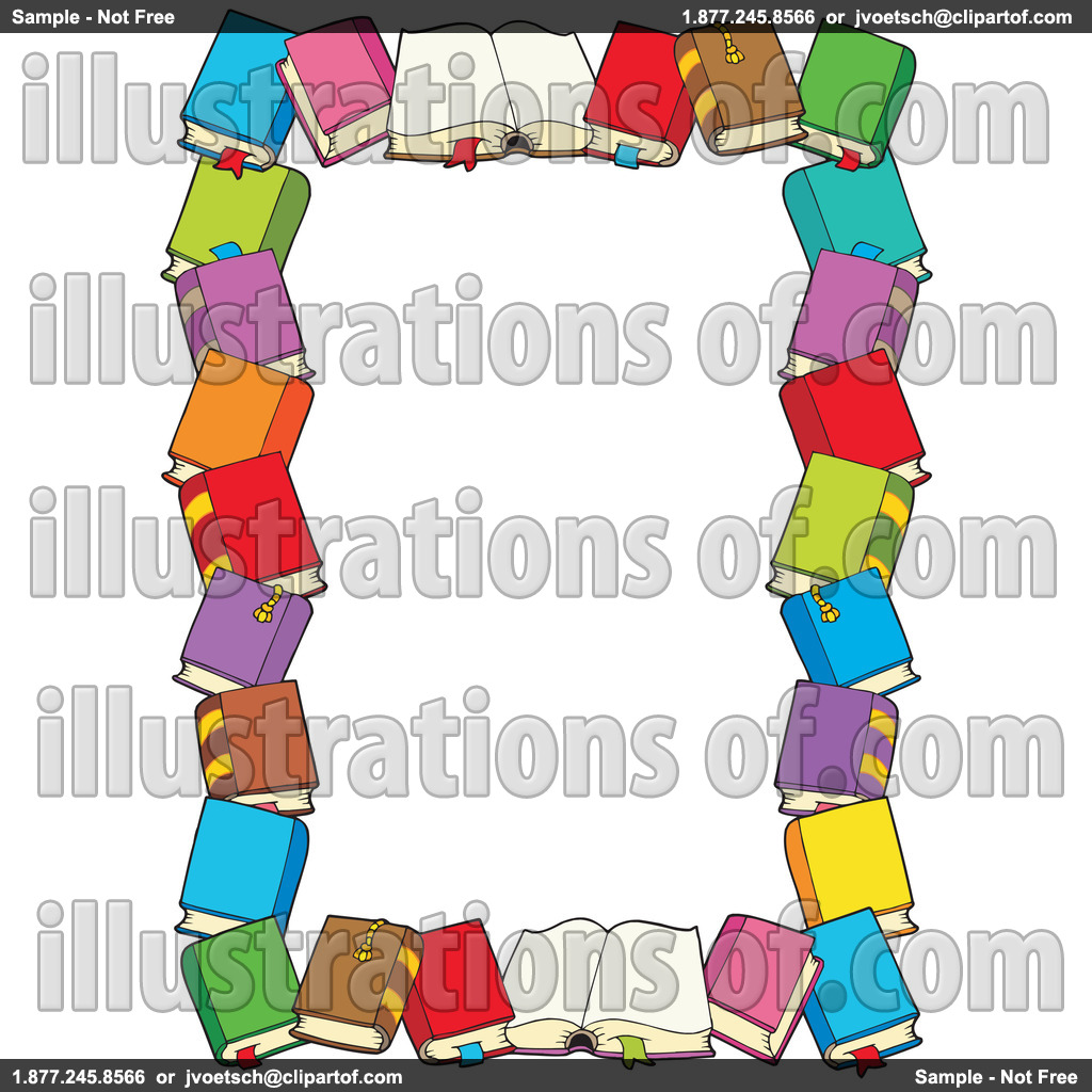Books Border Clipart.