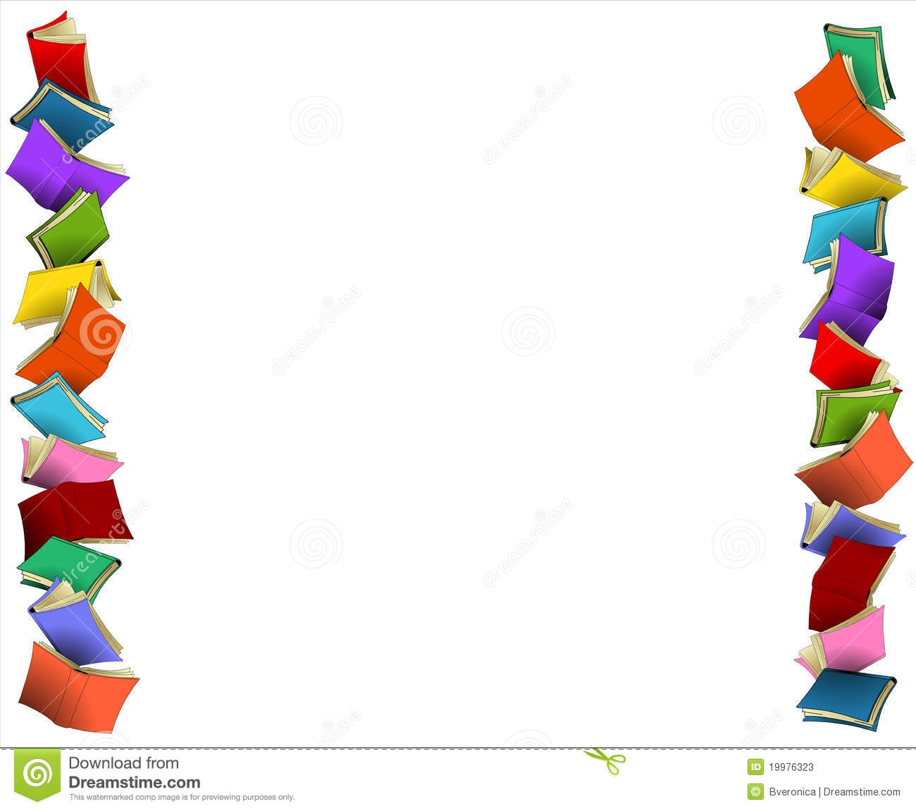 Clipart Book Borders Free