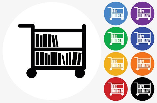 Library Book Cart Clip Art, Vector Images & Illustrations.