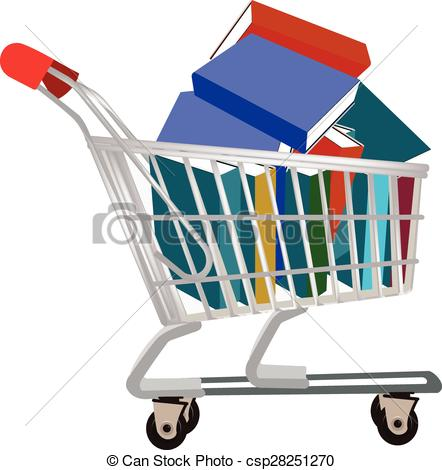 Vectors Illustration of buy a book,.