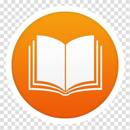 White and orange book logo, symbol yellow orange logo.