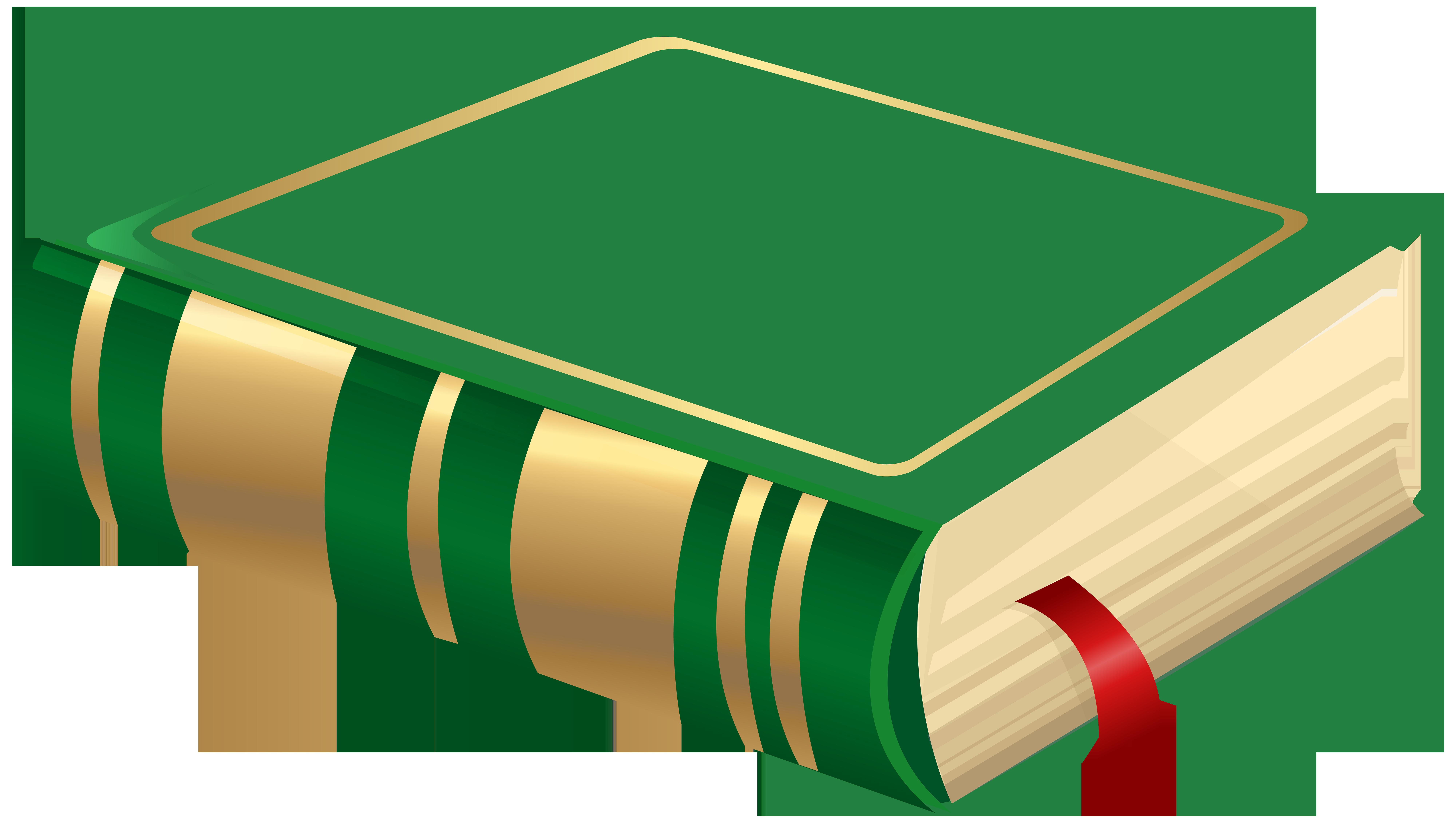Green Book PNG Clip Art Image.