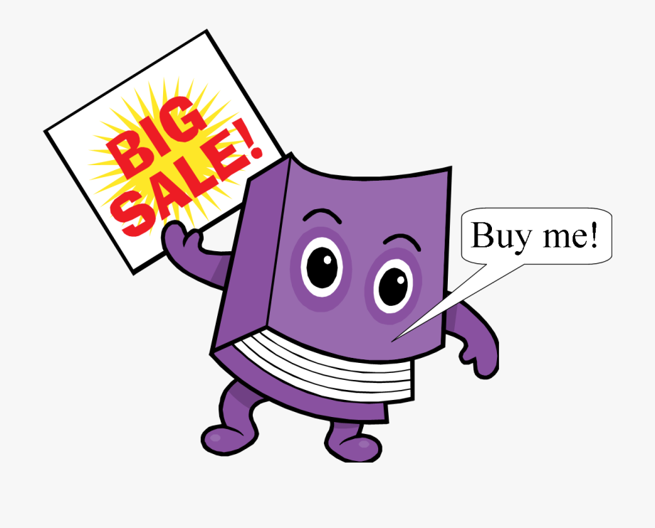 Used Book Sale Clipart.