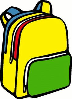 Bookbag clipart hang backpack, Bookbag hang backpack.