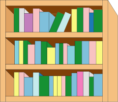 Free to Use & Public Domain Bookcase Clip Art.