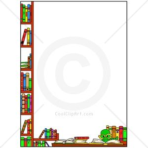 Reading Border Clip Art.