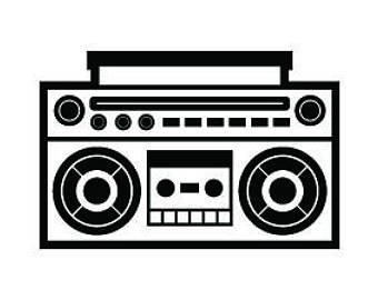 Boombox clipart svg, Boombox svg Transparent FREE for.