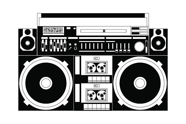87 Boombox free clipart.