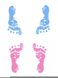 Blue Baby Booties Clipart.