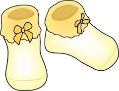 Image result for clipart of a pair of baby booties.