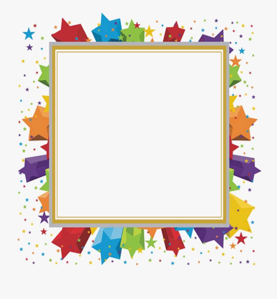Transparent Star Borders Clipart.