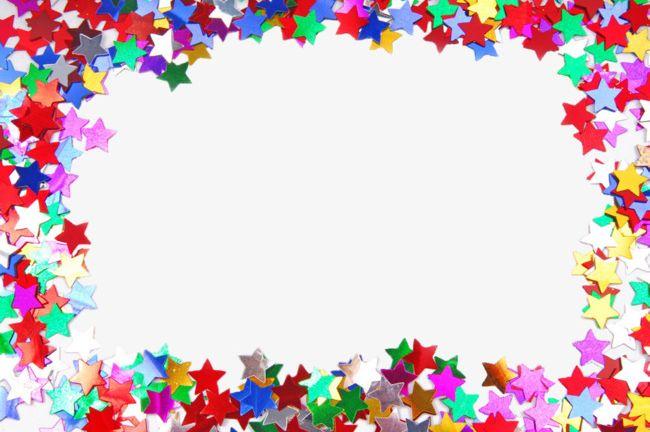 Colored Stars Border Clip PNG, Clipart, Border, Border.