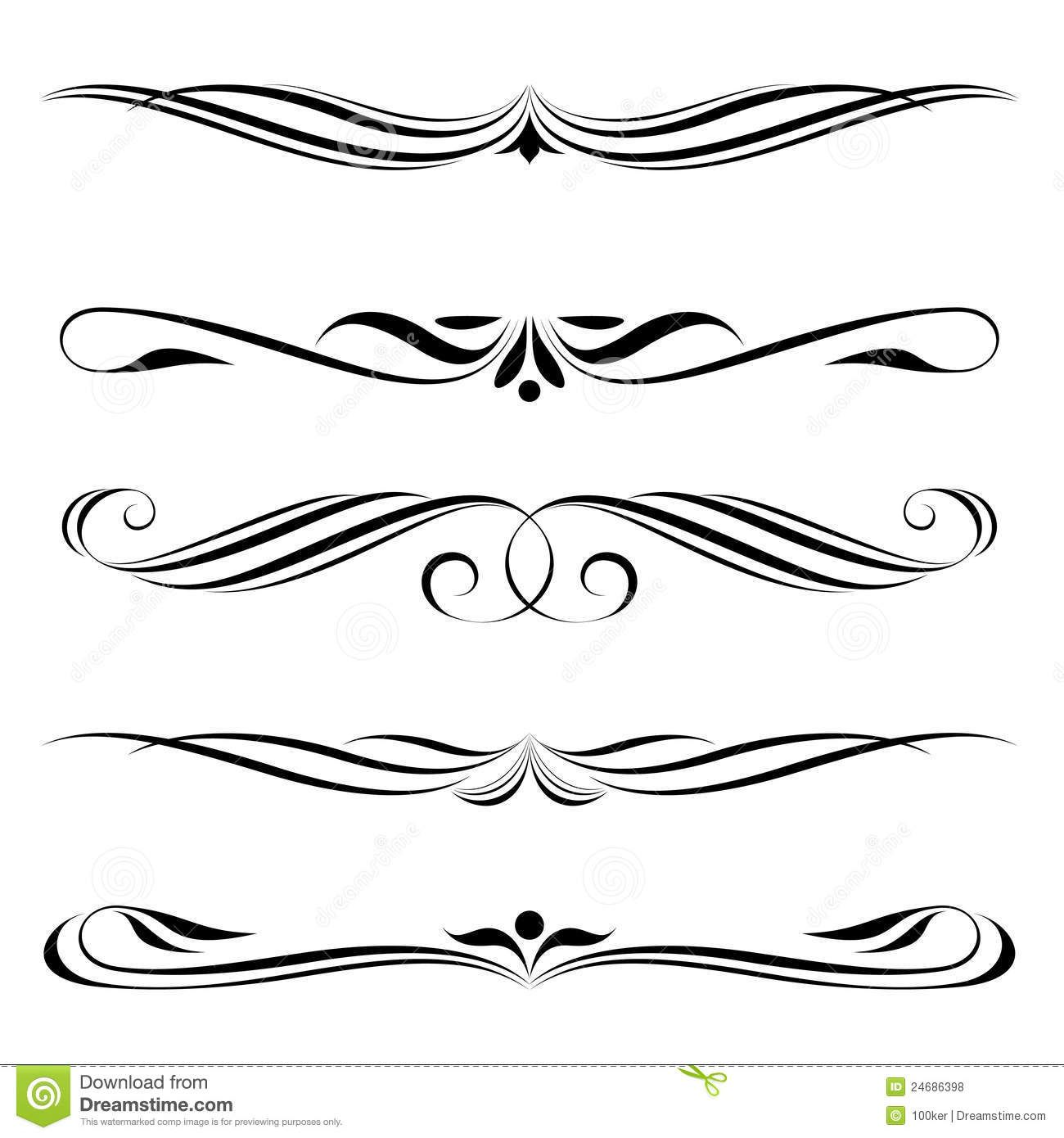63 Awesome fancy line border clipart.