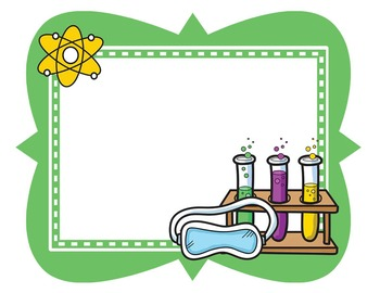 Science Kids Clipart: Borders & Frames.