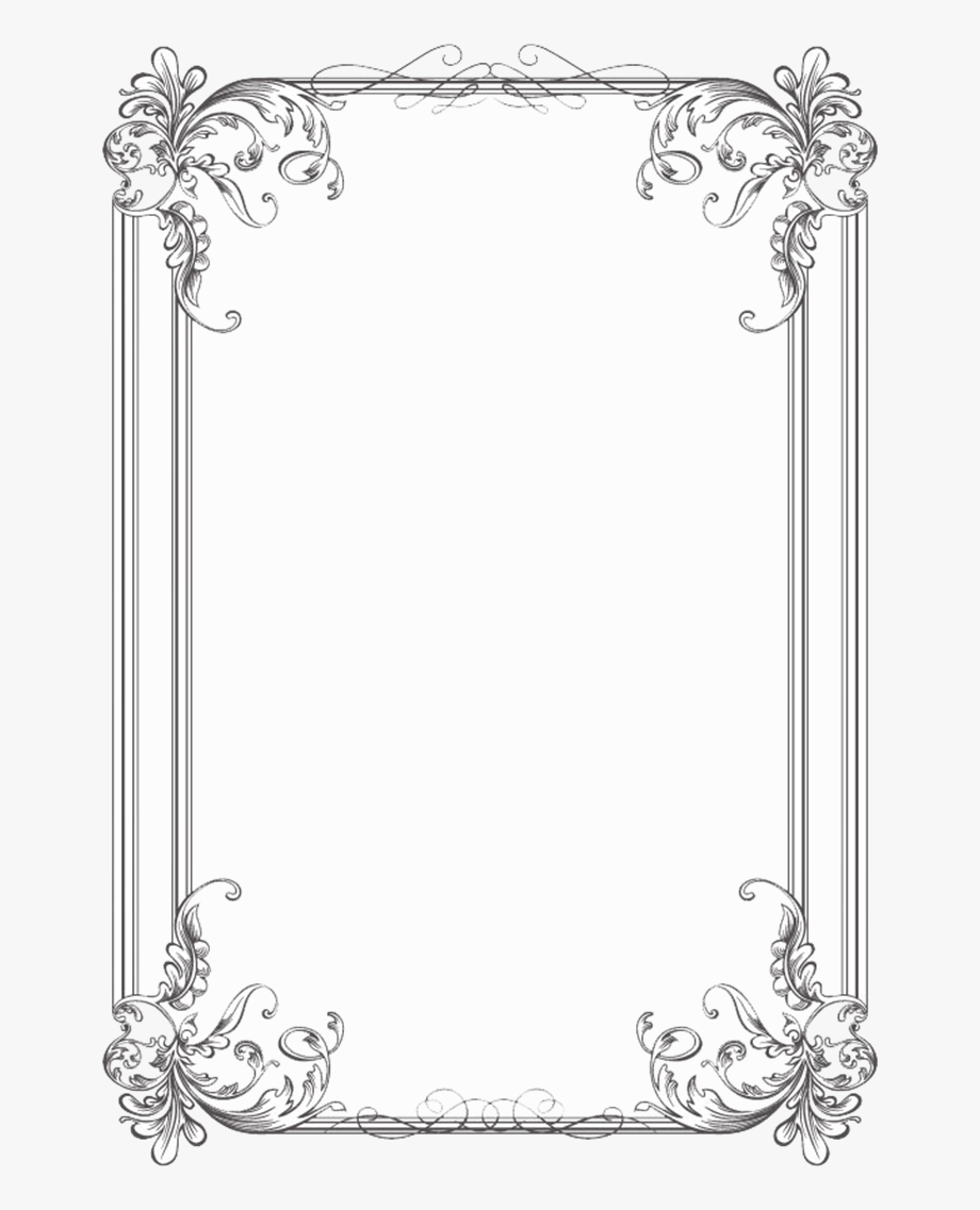 Free Black Clip Art Borders And Frames Weddings.