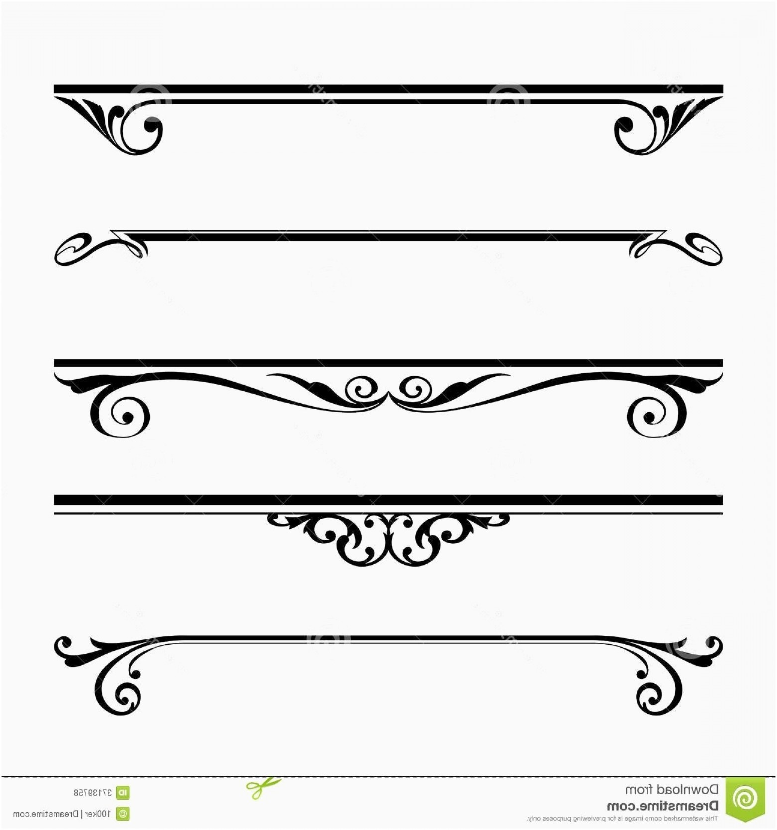 Clipart Lines And Borders New Decorative Lines Vector.