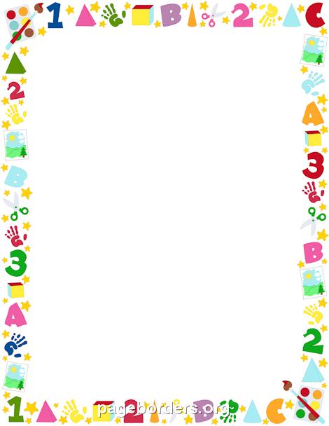 Printable preschool border. Free GIF, JPG, PDF, and PNG downloads.