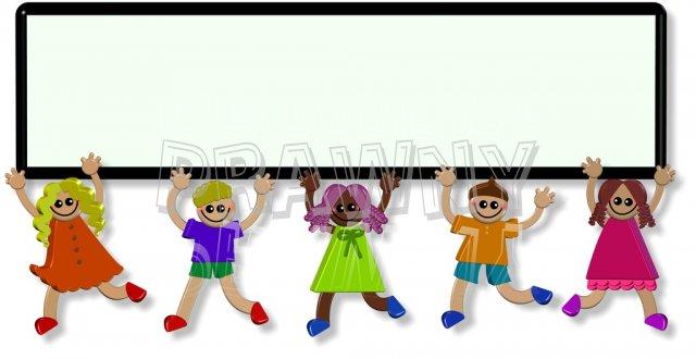 3d Happy Border Banner Sign Children Prawny Cute Kids Clip Art.
