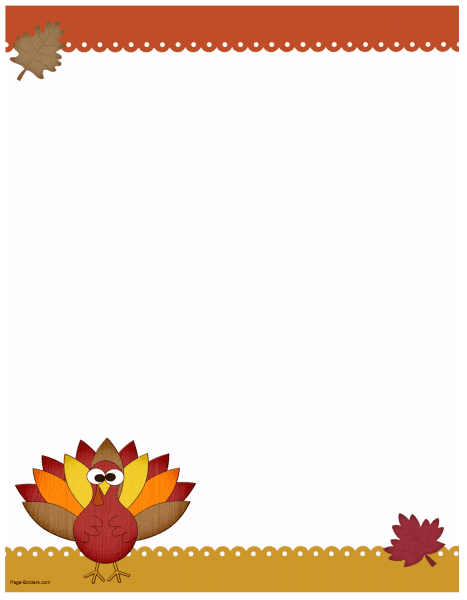 FREE Thanksgiving Border Printables.