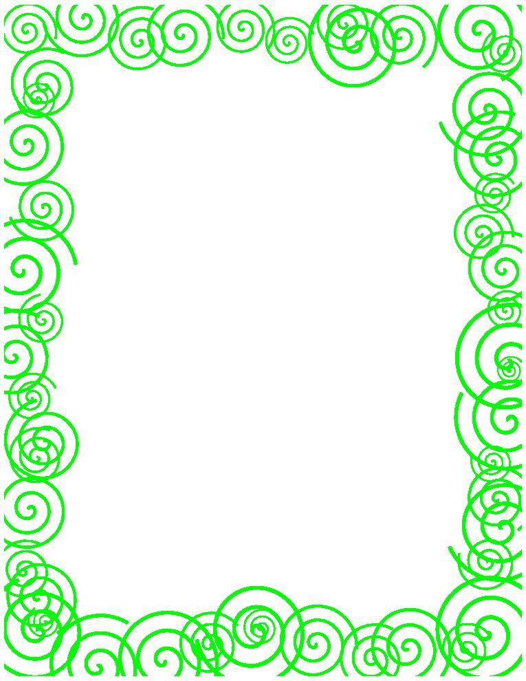 Green Spiral Border.