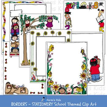 Borders SCHOOL BORDERS All Occasion (Karen\'s Kids Clip Art).