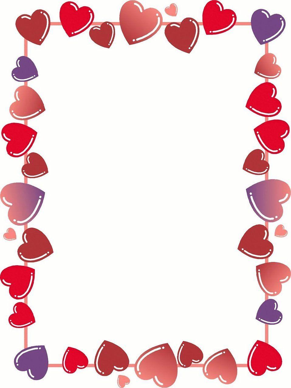 Heart border : Free Stock Photo.