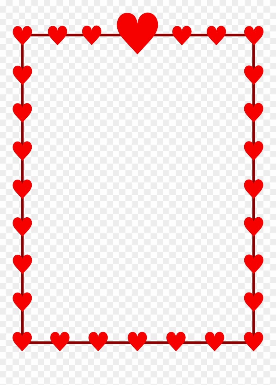 Valentine Heart Clip Art Borders.