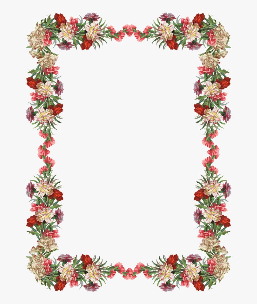 Clipart Borders Vintage Flower.