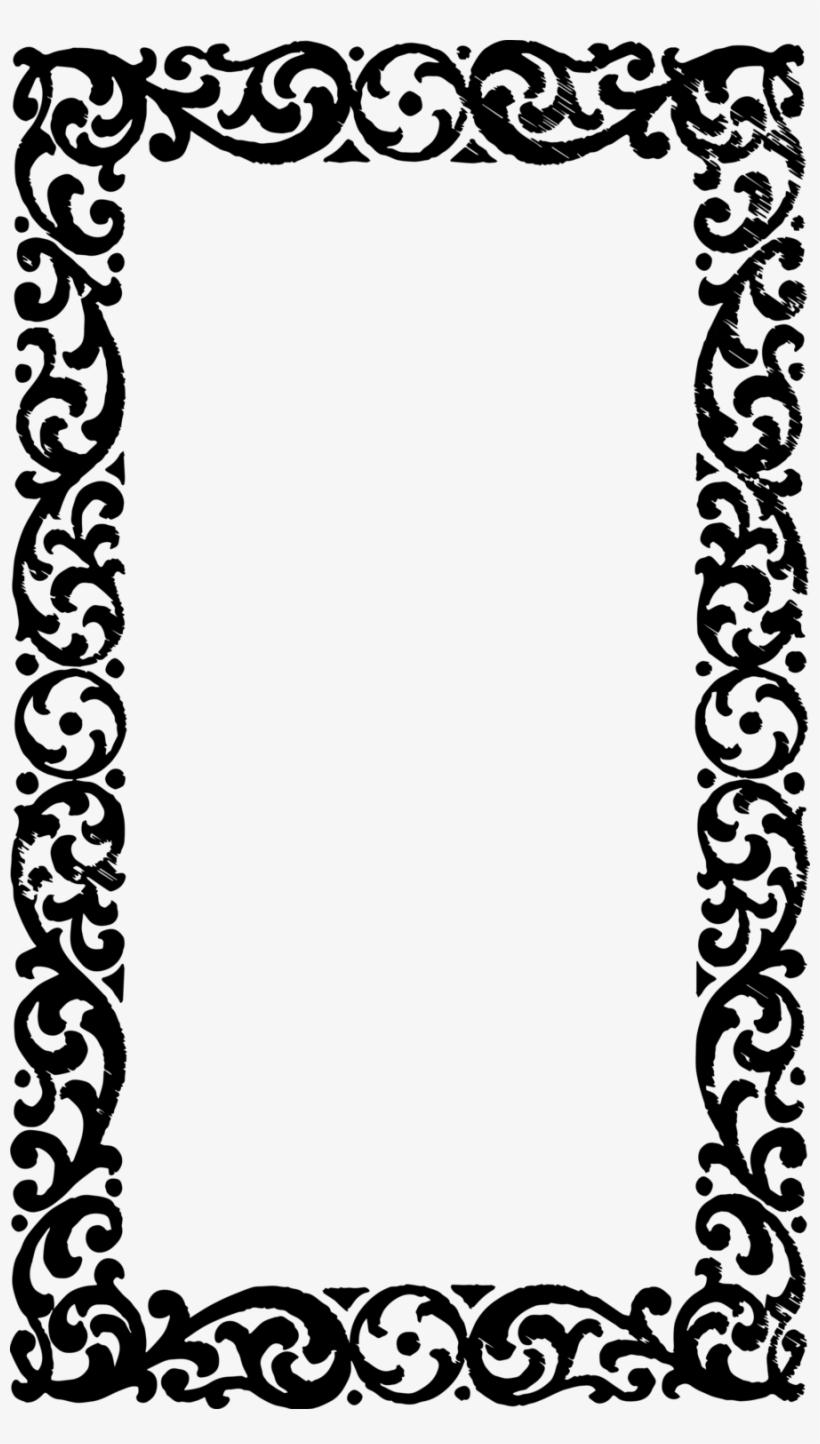 Download Vintage Frame Border Design Clipart Borders.