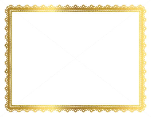 Gold Decorative Frame, Page Border, Digital Frame, Border Paper.