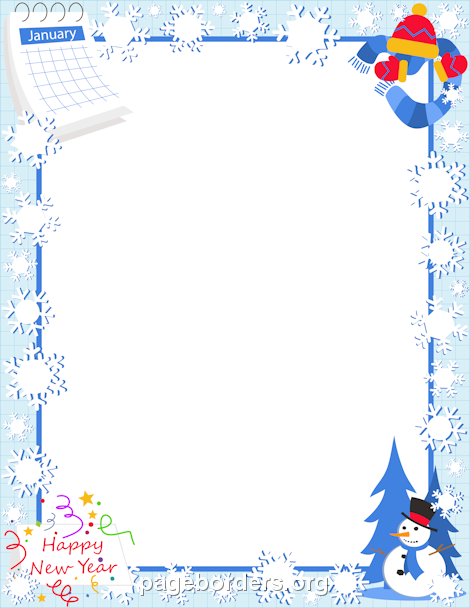 January free winter borders clip art page borders and vector.