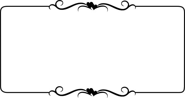 free border clipart for word border for word clip art images - Word Frame