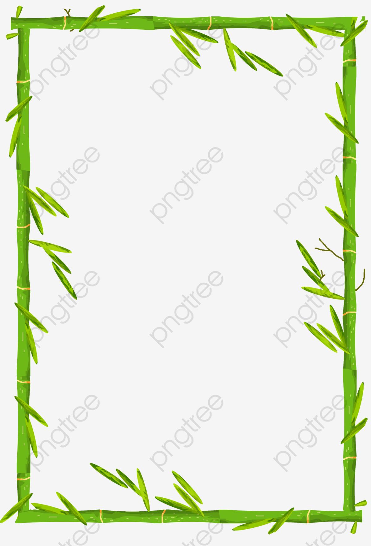 Bordure De Bambou, Bordure De Bambou, Bordure, Bambou Image PNG pour.