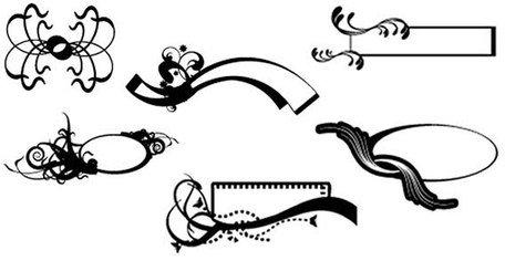 Graphismes vectoriels et Clipart Bordures décoratives gratuits.