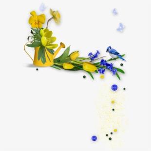Clipart Gratuit Bordure Fleurs.