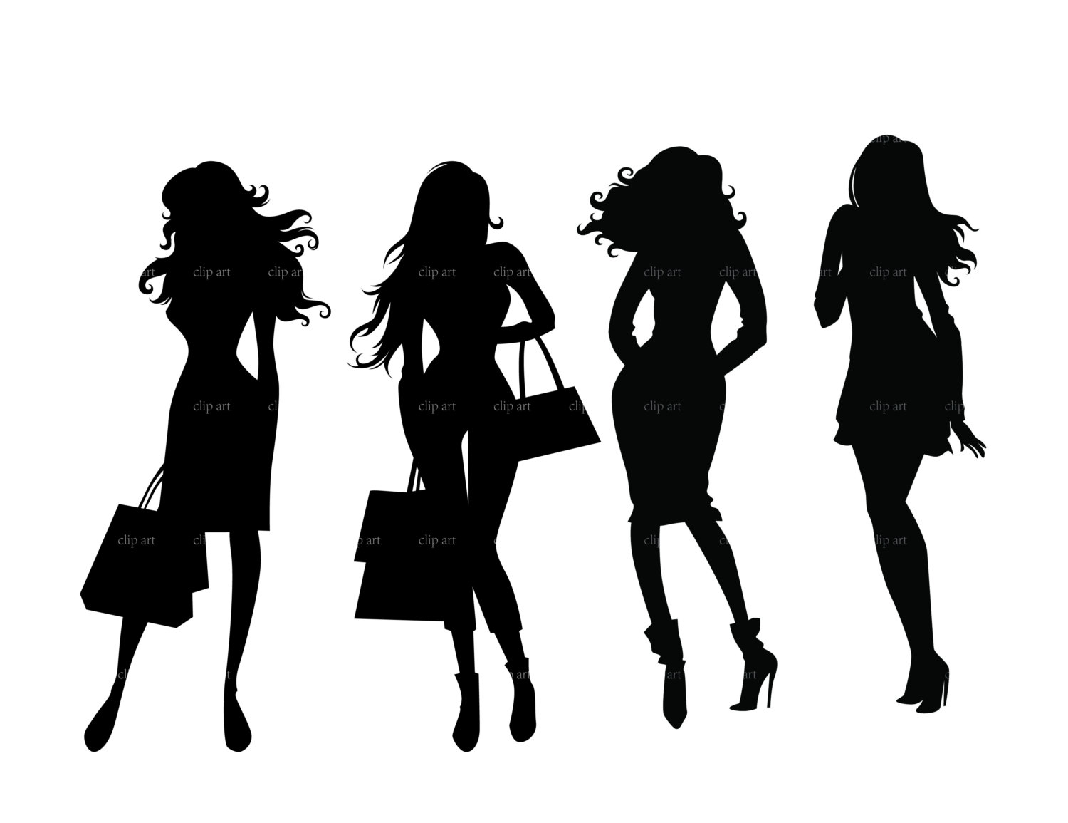 lady boss silhouette.