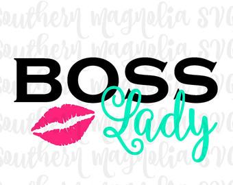 Boss lady svg.