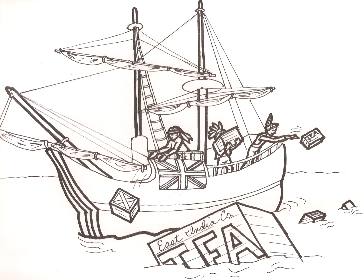 Free Free Coloring Page Boston Tea Party, Download Free Clip.