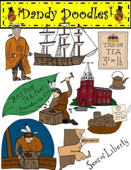 Boston Tea Party Clip Art by Dandy Doodles in 2019.