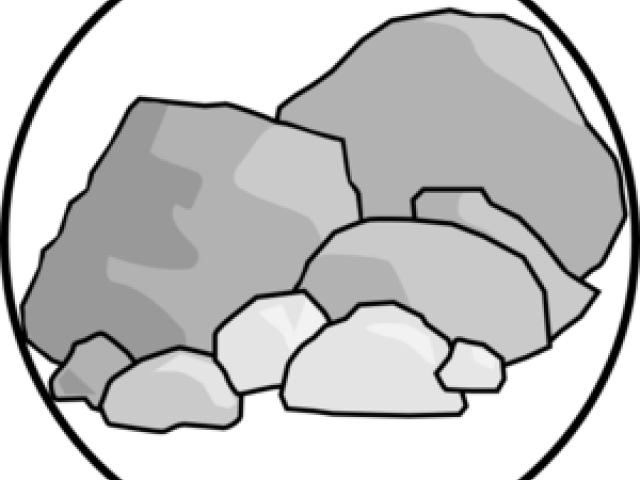 Boulders Clipart Broken Rock.