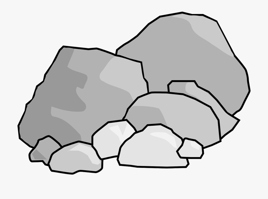 Rock Black And White Clipart Collection.
