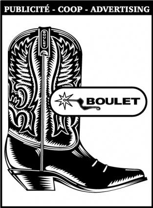 Boulet logo Clipart Graphic.