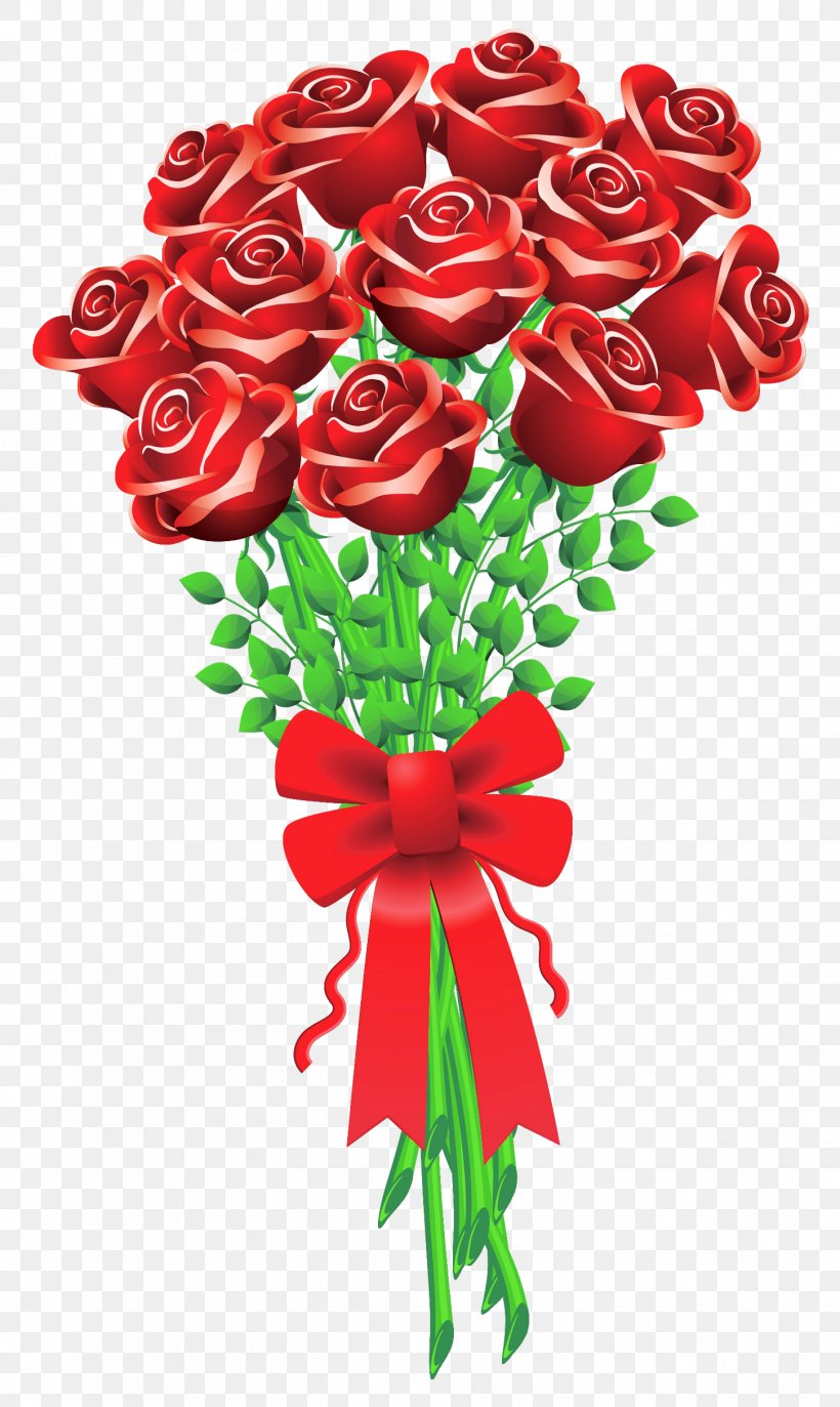 Clip Art Valentine\'s Day Flower Bouquet Rose, PNG.