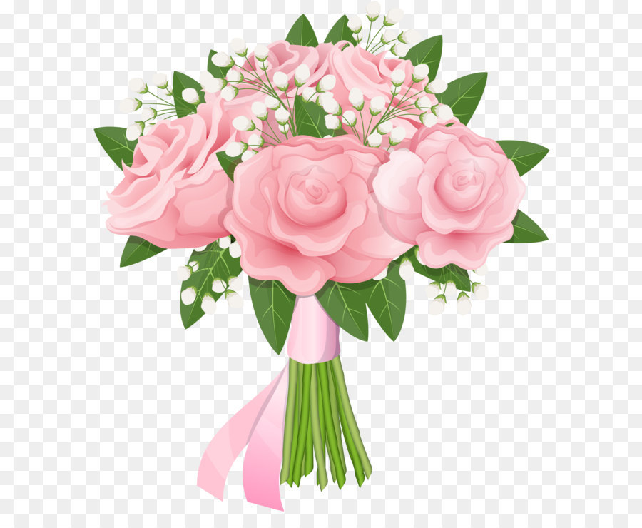 Pink Flowers Background png download.