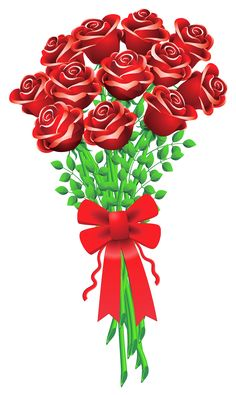 Large Red Rose PNG Image.
