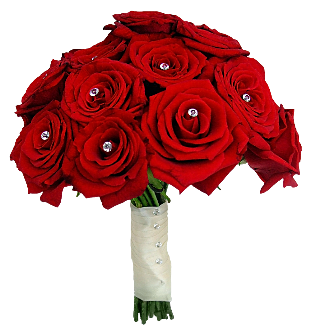 Red Rose Bouquet PNG Image.